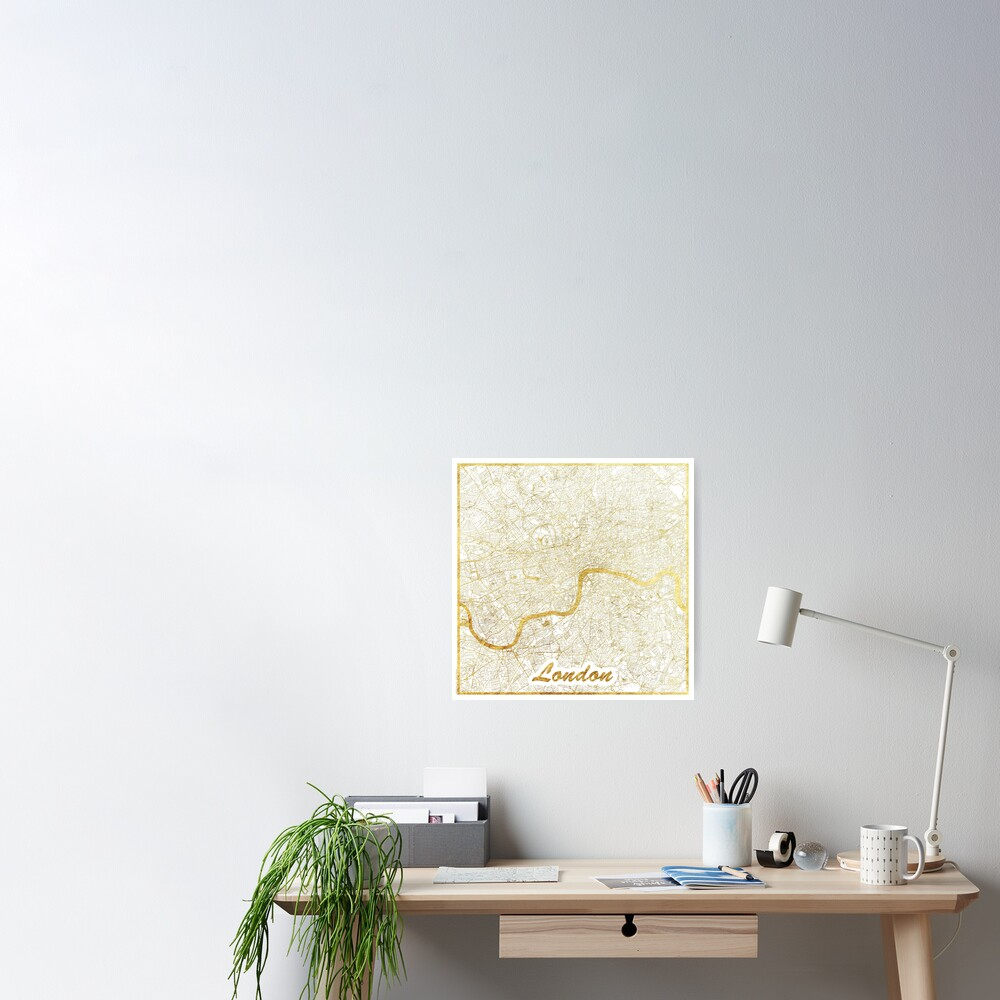 London Map Gold Poster