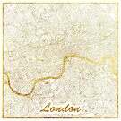London Karte Gold von HubertRoguski