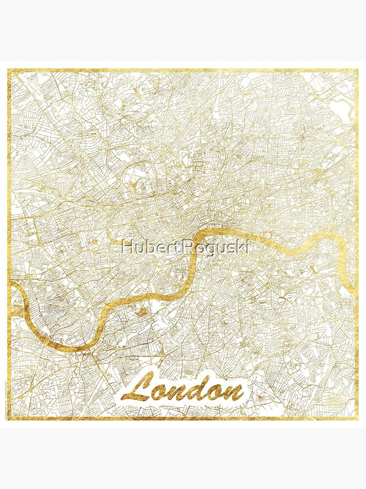 London Map Gold by HubertRoguski