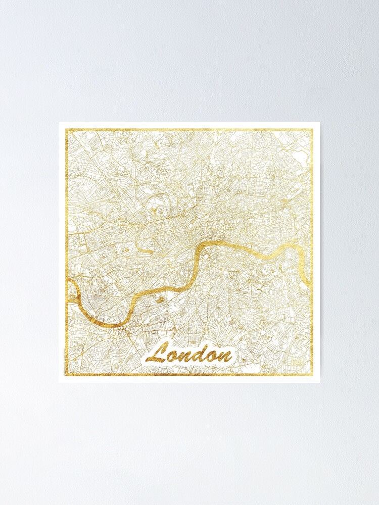 Alternate view of London Map Gold Poster