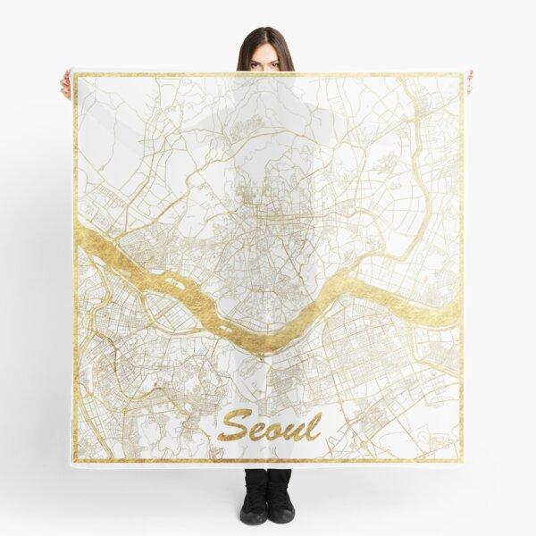 Seoul Map Gold Scarf