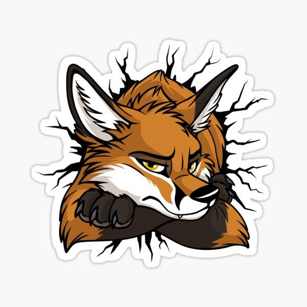 STUCK Red Fox / Fuchs (black cracks) Sticker