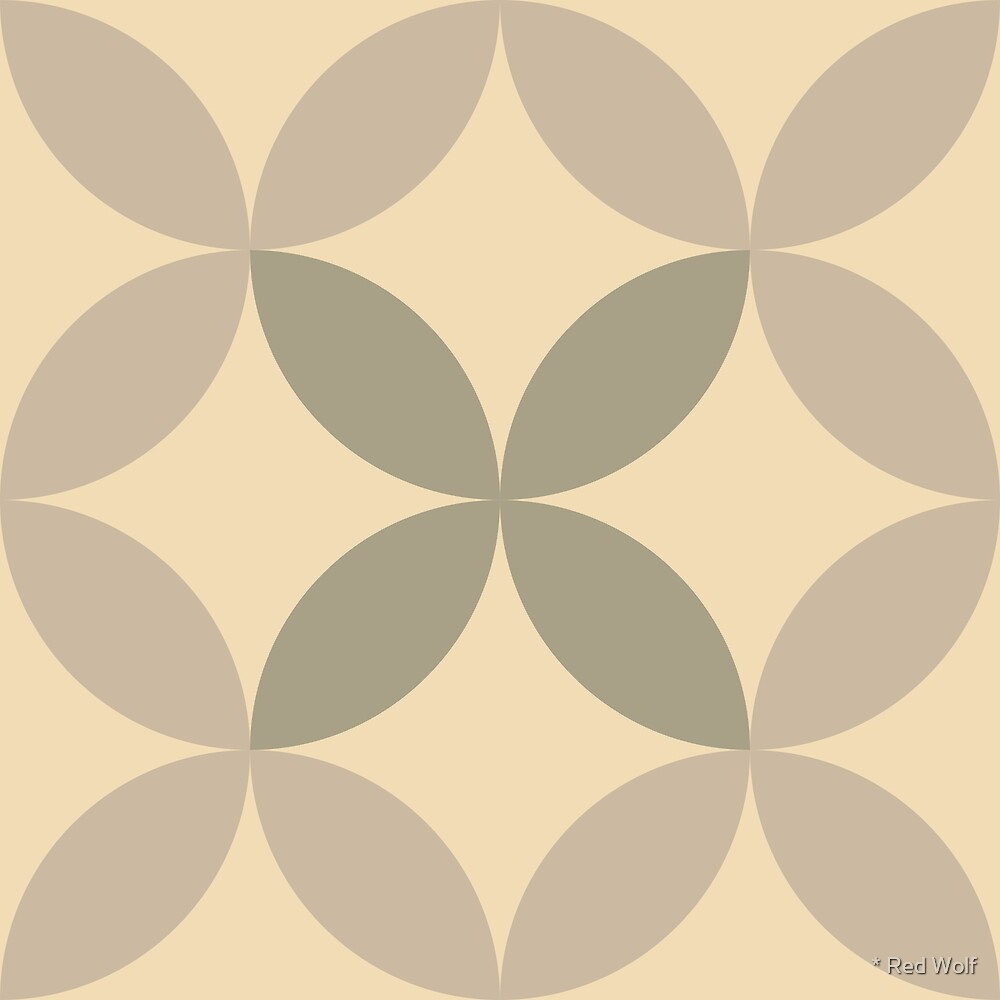 Geometric Pattern: Circle Nested: Parchment by * Red Wolf