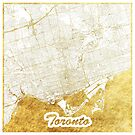 Toronto Karte Gold von HubertRoguski