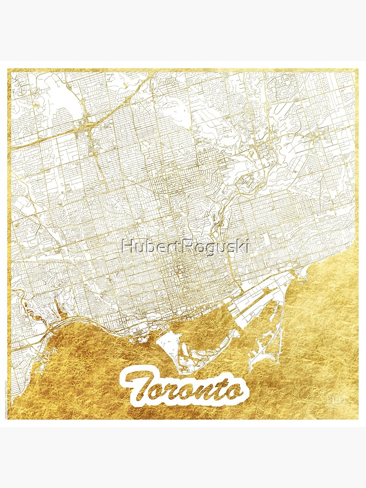 Toronto Map Gold by HubertRoguski