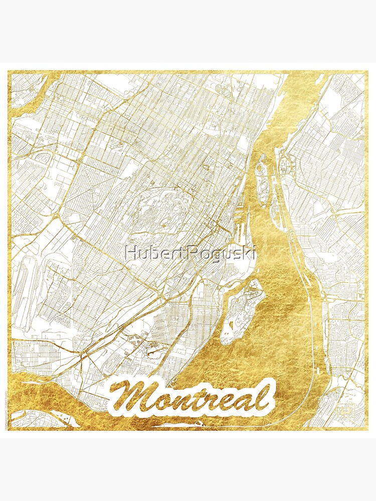 Montreal Map Gold by HubertRoguski