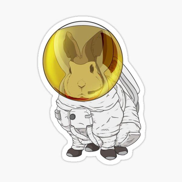 Rabbit Astronaut Sticker