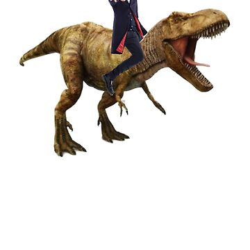 Capaldi on a Dinosaur by jammywho21