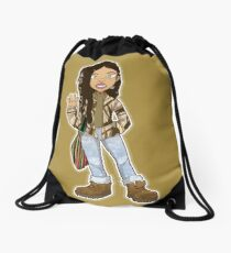 Kiera sticker 002 Drawstring Bag