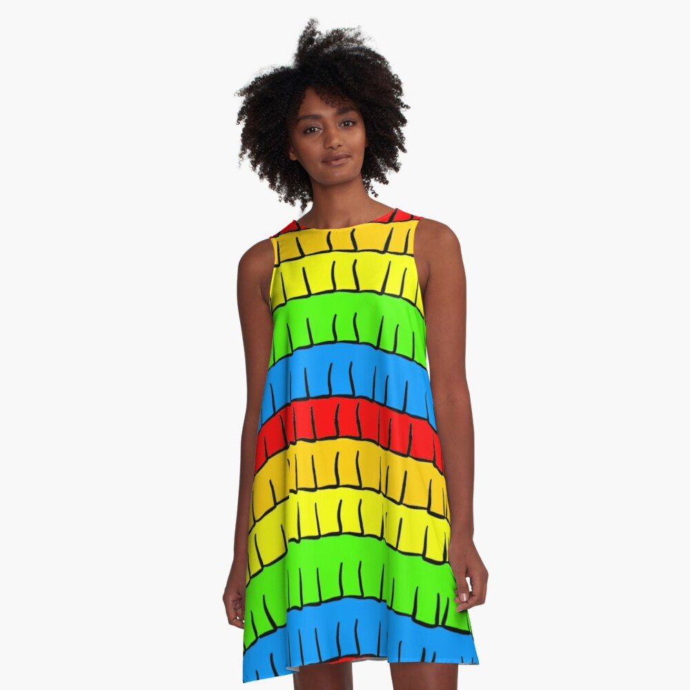 Pinata Fringe A-Line Dress