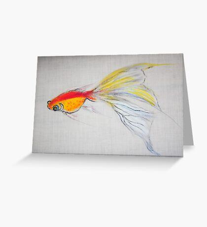 Goldfish Pond (close up #1) Greeting Card