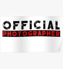 official photographer Poster