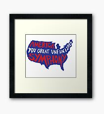 the world was wide enough Framed Print