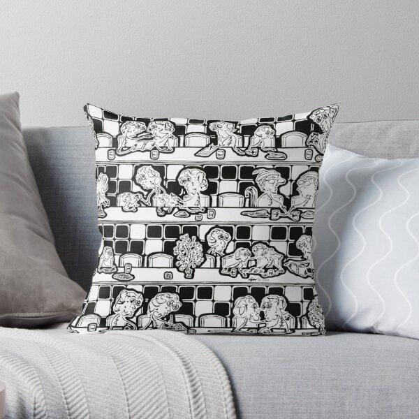 NYC Diner Throw Pillows & Totes Throw Pillow