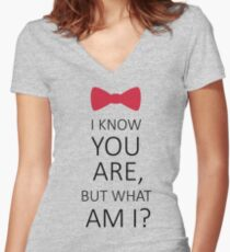 I Know You Are But What Am I? Women's Fitted V-Neck T-Shirt