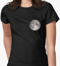 Moon small (see also: BIG) Womens Fitted T-Shirt