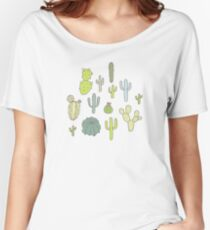 Cacti print Women's Relaxed Fit T-Shirt