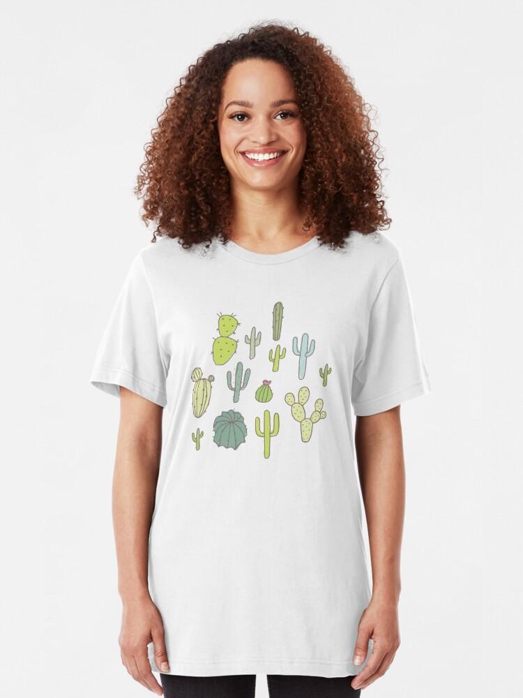 Alternate view of Cacti print Slim Fit T-Shirt
