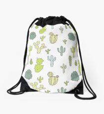 Cacti print Drawstring Bag