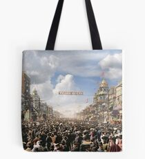 The Rex pageant, Mardi Gras Day, New Orleans, 1907 Colorized Tote Bag