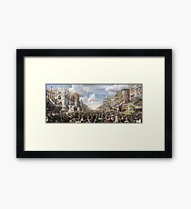 The Rex pageant, Mardi Gras Day, New Orleans, 1907 Colorized Framed Print