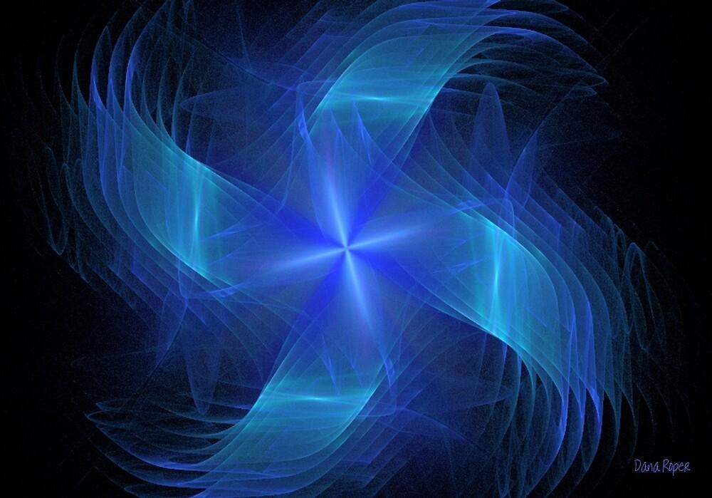 Blue Pinwheel by Dana Roper