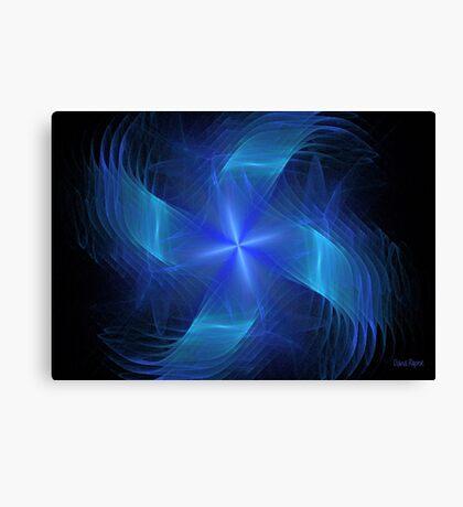 Blue Pinwheel Canvas Print