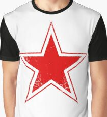 Military Roundels - USSR Red Star Graphic T-Shirt
