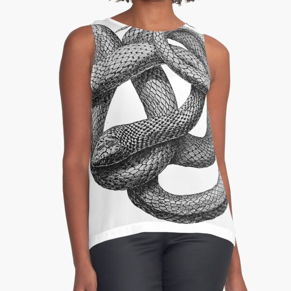 Large Snake Sleeveless Top