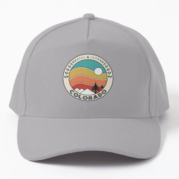 Colorado Retro Vintage Sunset - Colorado Mountain Souvenir - Gift - Hometown - Hiking - Nature Baseball Cap