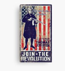 Jefferson Revolution Propaganda Canvas Print