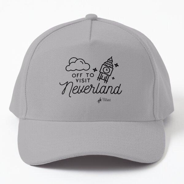 Off to Neverland in Black Baseball Cap