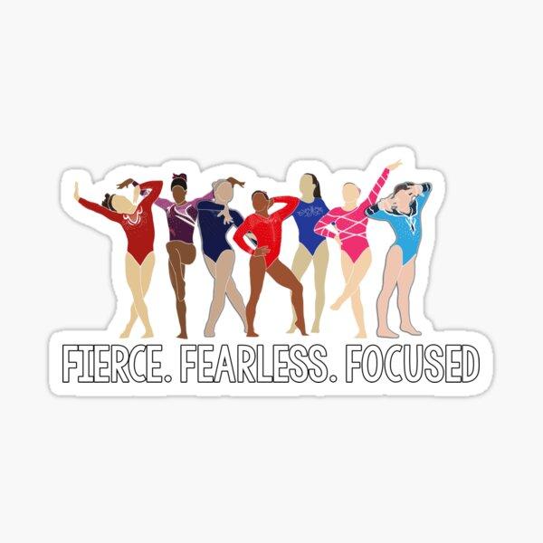 Fierce. Fearless. Focused Sticker