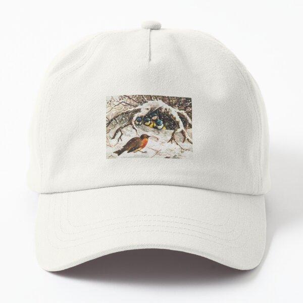 Birds in Snow Dad Hat