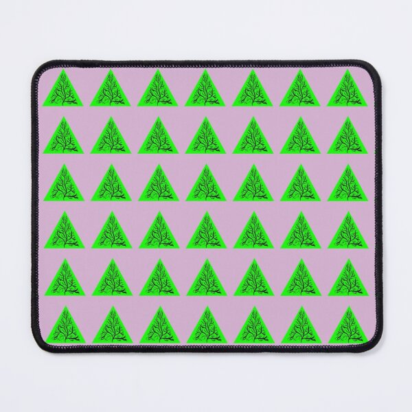 Tree and Triangle | Life is Order & Chaos | Calming Design Mouse Pad