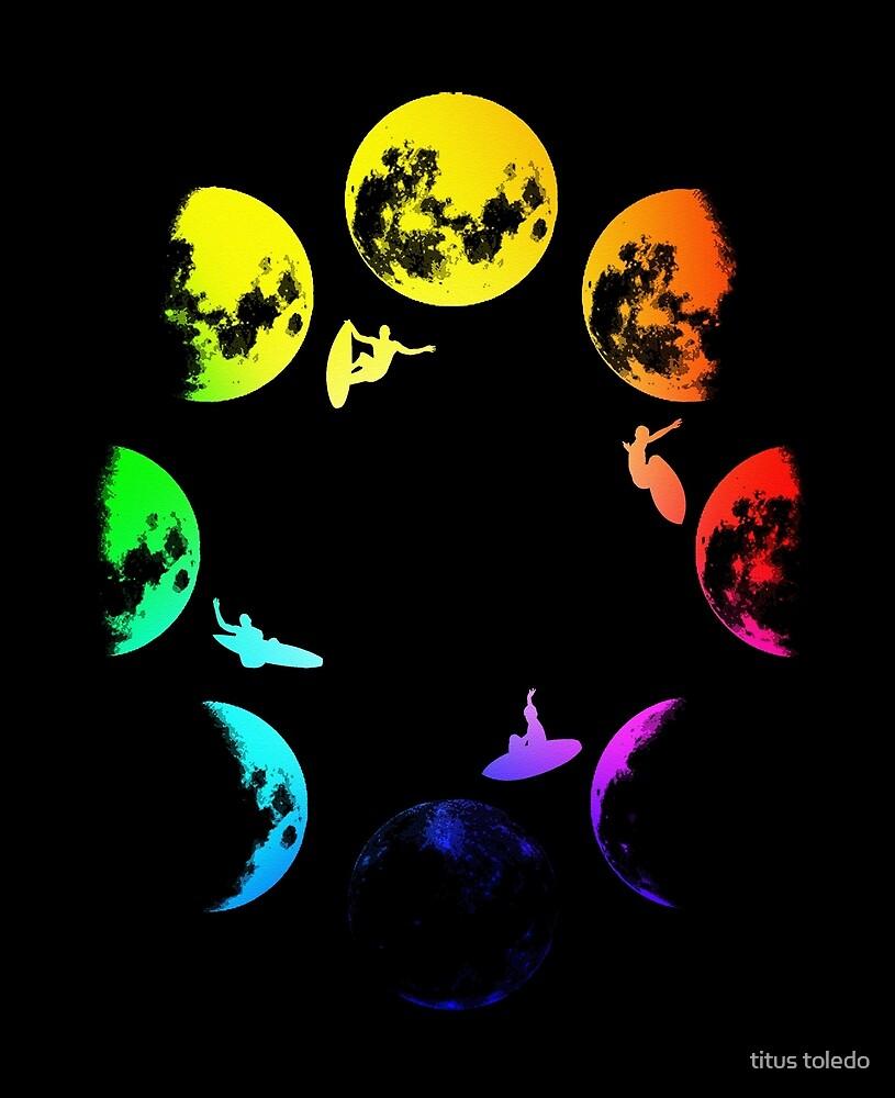mooncyclerainbowsurfing by titus toledo