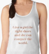 Rose gold shoe love Women's Tank Top