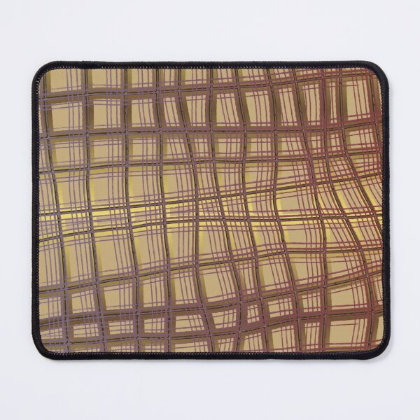 Pattern Design013 Abstract Golden Brown Lines Mouse Pad