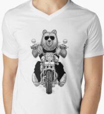 carefree bear Men's V-Neck T-Shirt