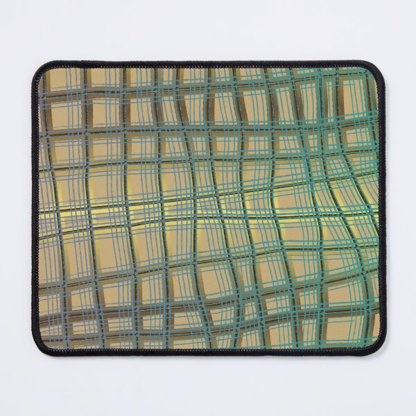 Pattern Design012 Abstract Golden Green Lines Mouse Pad