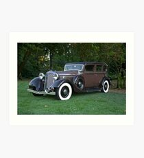 1933 Lincoln Sedan Art Print