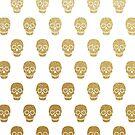 Gold Leaf Sugar Skulls by Jacqui Frank