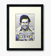 Pablo Escobar GLITCH Framed Print