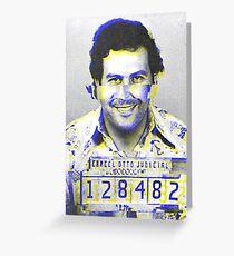 Pablo Escobar GLITCH Greeting Card