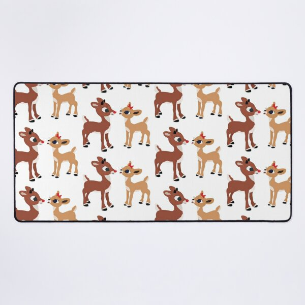 Classic Rudolph and Clarice - © GraphicLoveShop Desk Mat