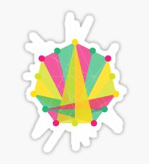 Crisscross Heptagon Sticker