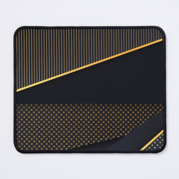 Elegant Dark Background with Golden Lines Mouse Pad