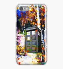 tardis in the forest art iPhone Case/Skin