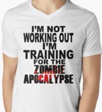 Training For The Zombie Apocalypse (dark text) T-Shirt