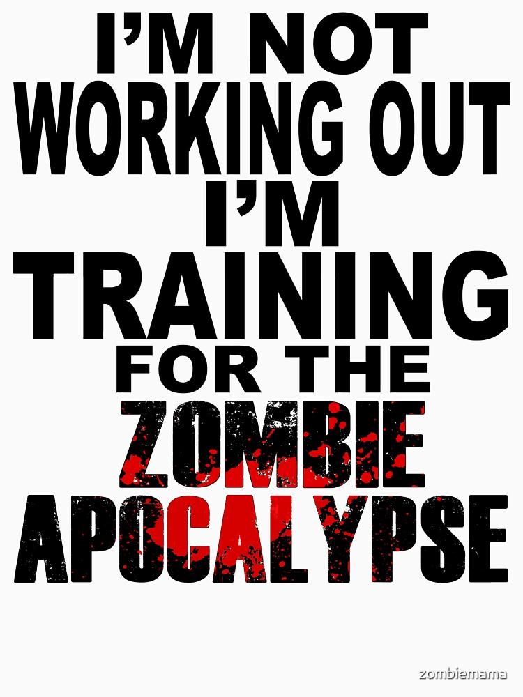 Training For The Zombie Apocalypse (dark text) | Racerback Tank